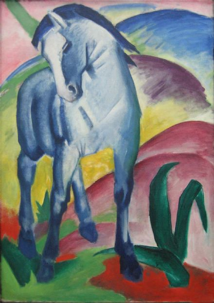 Marc, Franz: Blue Horse. Fine Art Animal Print/Poster. Sizes: A4/A3/A2/A1 (003303)